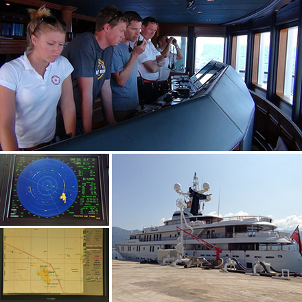 This summer, assistant professor Todd Humphreys, in the Department of Aerospace Engineering and Engineering Mechanics, and his research team, graduate students Jahshan Bhatti and Ken Pesyna, spent time aboard the White Rose of Drachs, successfully performing GPS spoofing attacks on the 213-foot superyacht while it traveled on the Mediterranean Sea.
